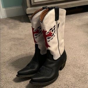 Genuine leather cowboy boots. 8